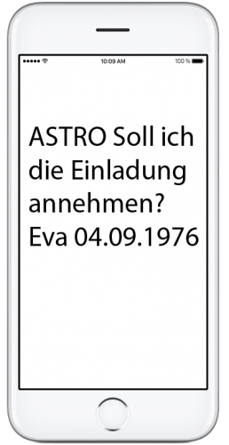Display vom SMS Inhalt